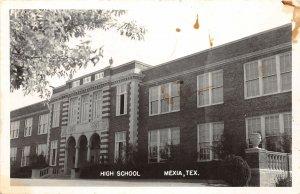 G37/ Mexia Texas RPPC Postcard 1944 High School Building