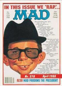 Lime Rock Trade Card Mad Magazine Cover Issue No 278 April 1988