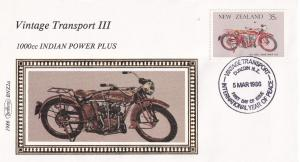 1000cc Indian Power Plus Motorcycle Bike New Zealand Benham First Day Cover