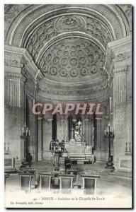 Old Postcard Dreux Interior De La Chapelle St Louis