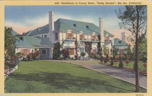 Residence Of Fanny Brice, Baby Snooks, BEL AIR, California, 1930-1940s