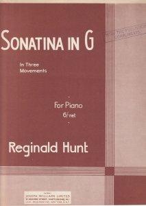Sonatina In G Reginald Hunt 3 Movements Classical Sheet Music