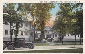 The Marlborough Hotel, HENDERSONVILLE, North Carolina, 1930-1940s
