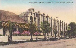 San Gabriel Mission Founded 1771 San Gabriel California Handcolored Albertype