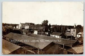 Hartford South Dakota~Bird's Eye View Northeast~Lumber Yard~Downtown~c1912 RPPC