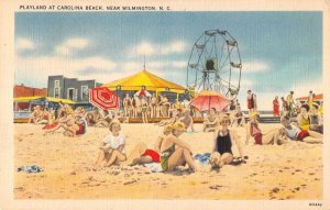 Carolina Beach North Carolina ferris wheel beach bathers antique pc ZE686264