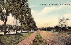 Indiana In Postcard 1915 HAMMOND Harrison Park SPEEDWAY Cars Homes