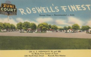 ROSWELL , New Mexico , 1930-40s ; Zuni Court