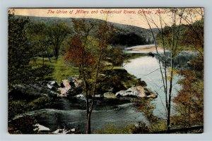 Orange MA, Union of Millers & Connecticut, Vintage c1910 Massachusetts Postcard