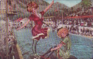 Colorado Colorado Springs Beautiful Girls Frolic In The Swimming Pool 1910