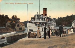Canada Port Carling Muskoka Lakes Boat Postcard