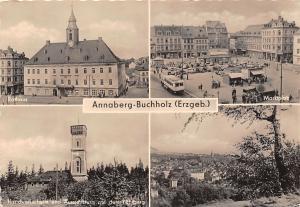 Annaberg Buchholz (Erzgeb.) Rathaus Marktplatz Handwerkerheim und Aussichtsturm