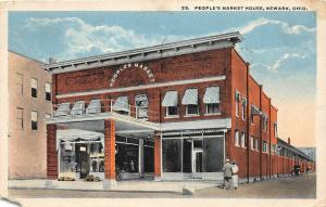 F36/ Newark Licking Co Ohio Postcard 1922 Peoples Market House Store
