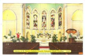 Interior of St. Peter's Catholic Church, Columbia, South Carolina,30-40s