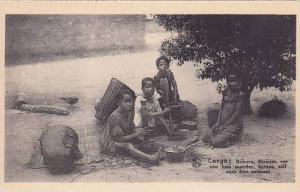 Belgian Congo Bokoro Meisjes Indigenes
