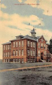 West Point Massachusetts George School Antique Postcard J40280