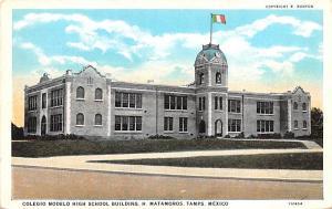 Mexico Old Vintage Antique Post Card Colegio Modelo High School Building H Ma...