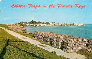 Conch Key Florida~Lobster Traps in the Florida Keys~1960s Postcard