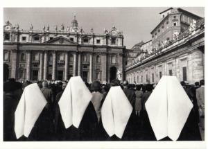 Nuns in St. Peter's Square Vatican City in 1962 Modern Postcard