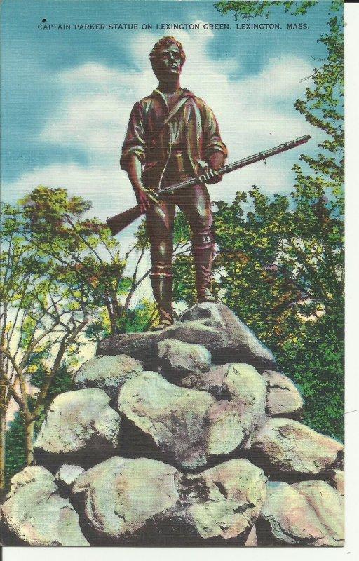 Lexington, Mass., Captain Parker Statue On Lexington Green