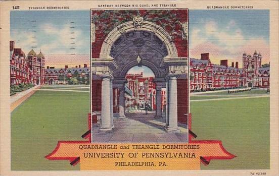 Pennsylvania Philadelphia Quadrangle And Triangel Dormitories University Of P...