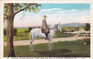 General Lee on Traveler , LYNCHBURG , Virginia , 1910-20s