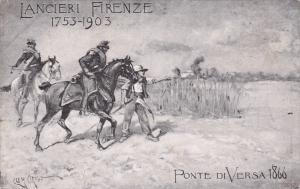 ITALY, Military Postcard ; Lancieri Firenze 1753-1903