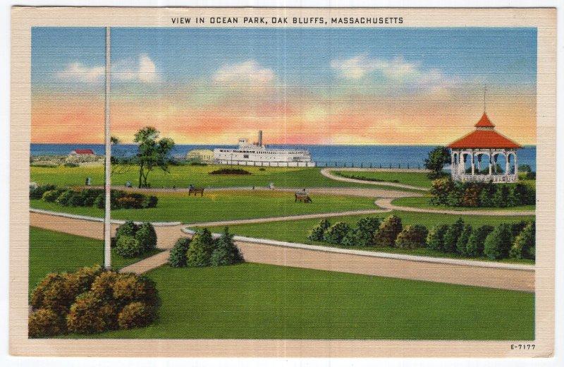 Oak Bluffs, Massachusetts, View In Ocean Park