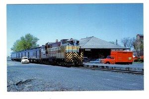 CPR Railway Train at Station, Weyburn, Saskatchewan