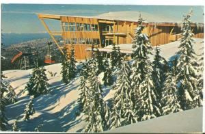 Canada, Top of Grouse Mountain, North Vancouver, BC, 1967 used Postcard