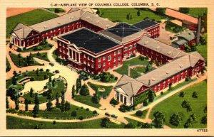 South Carolina Columbia Airplane View Of Columbia College