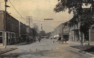 JOHNSTOWN, OHIO MAIN STREET-1916'  RPPC REAL PHOTO POSTCARD