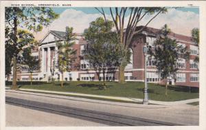 High School (Exterior), GREENFIELD, Massachusetts, 1910-1920s