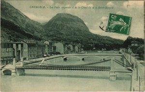 CPA GRENOBLE Les Ponts suspendu et de la Citadelle et le St-Eynard (685755)