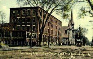 Cushman & Hollis Shoe Factory in Auburn, Maine