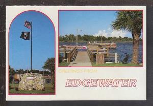 Greetings From Edgewater FL Postcard BIN