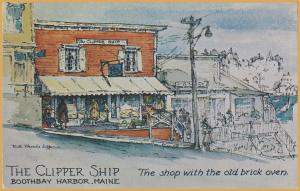 Boothbay Harbor, Maine-The Clipper Ship, The Shop with the old brick oven-1960