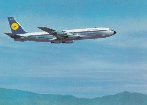 LUFTHANSA Airlines Boeing 707 Jet Airplane , 1960s