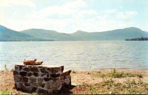 New York Lake George Fireplace By The Shore