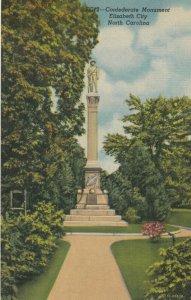 ELIZABETH CITY, North Carolina, 30-40s; Confederate Monument