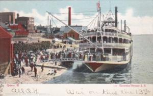 Illinois Quincy Excursion Steamer J S 1907 Curteich