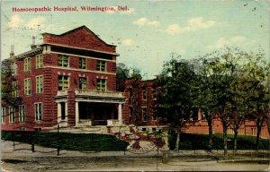 Vtg 1910s Homeopathic Hospital Wilmington Delaware DE Postcard