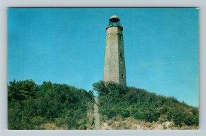 Norfolk VA- Virginia, Old Cape Henry Lighthouse, Cape Henry, Chrome Postcard