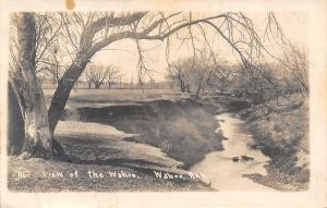 Wahoo Nebraska~Trees Hang Over the Wahoo River~1912 Real Photo Postcard~RPPC