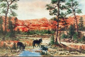 Arizona Sedona Red Rock Country Painted By William Mewhinney
