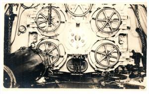 WWI Submarine Torpedo Room   Real Photo