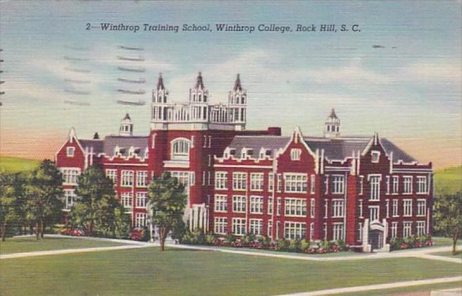 South Carolina Rock Hill Winthrop Training School Winthrop College 1951 curteich