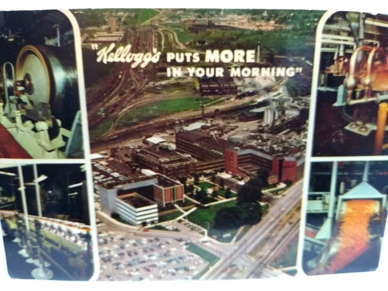 Kellogg's Real Photo Postcard Puts More In Your Mornings Vintage Cereal Unused