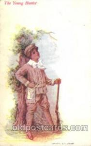 The Young Hunter Children, Child, Postcard Post Card  The Young Hunter
