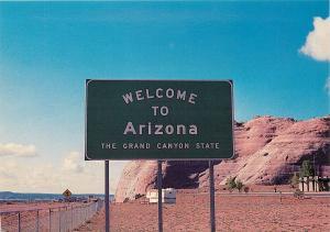 Welcome to Arizona DOT Sign Postcard AZ